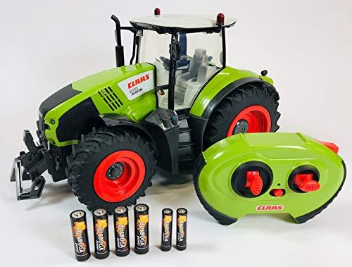 RC Auto kaufen Traktor Bild 2: BUSDUGA RC Ferngesteuerter Traktor CLAAS 870 Axion 1:16 - passend zu den Bruder Anhänger, inkl. Batterien - 2,4 GHz - RTR (Ready-to-Run) Sofort Spielbereit - Lizenz NACHBAU*