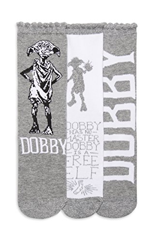Ladies Girls Harry Potter Dobby Socks 3 Pair Pack Different Designs UK Size 4-8 Eur 37-42 USA 6-10