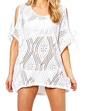EasyMy Donne Elegante Beachwear Costume da Bagno Estate Crochet Lace Cover-Up
