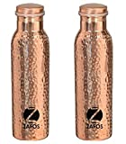 Zafos Pure Copper Hammered Yoga Water Bo...