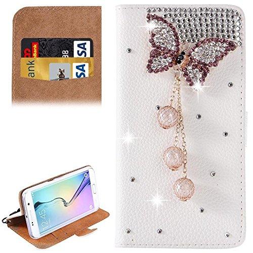 Schützen Sie Ihr Mobiltelefon Für Samsung Galaxy S6 Edge / G925 Diamant verkrustete Muster Horizontale Flip Leder Tasche mit Halter & CardSlots für Samsung Handy ( SKU : S-SCS-9010K )