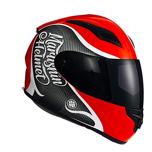 Preisvergleich Produktbild MMGIRLS Retro Fiberglas Motorrad Integralhelm Downhill SUV Helm & 135 Grad großes Feld Objektiv (Schwarze Linse) - Multi-Color optional, C, XL