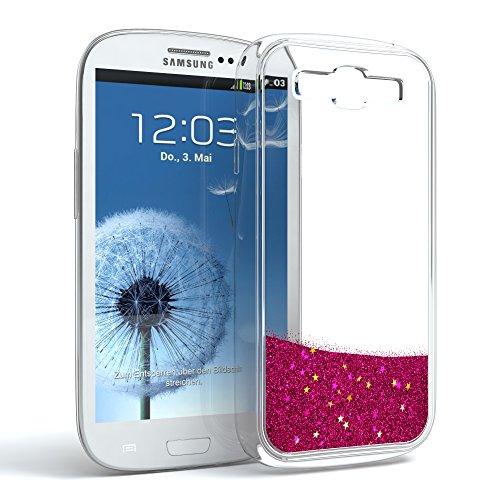 r Samsung Galaxy S3 / S3 Neo Schutzhülle mit Flüssig-Glitzer, Handyhülle, Schutzhülle, Back Cover mit Glitter Flüssigkeit, aus TPU/Silikon, Transparent/Durchsichtig, Pink ()