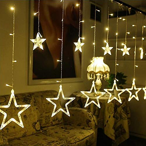 Ankamall Elec 1 STÜCK 12 LED 2,5 mt Festival Dekoration Stern Streifen Vorhang Lichter