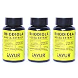 iAYUR Rhodiola Rosea Extract (Pack of 3) Tested & Certified 100% Potent, Natural