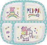 Stor 896333 - Peppa Pig Teller Abteilungen Bambus 23 x 23