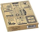 Florileges Design FIH113050 Timbro Scrapbooking Nuove Etichette Beige, 13 x 10 x 2,5 cm