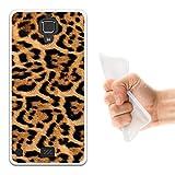 WoowCase Hisense C20 King Kong II 4G Hülle, Handyhülle Silikon für [ Hisense C20 King Kong II 4G ] Tier Leoparddruck Handytasche Handy Cover Case Schutzhülle Flexible TPU - Transparent