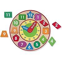 Wandquarzuhr Dschungel 240 x 240 x 30 NEU Kinderuhr Holzuhr Wanduhr Uhr