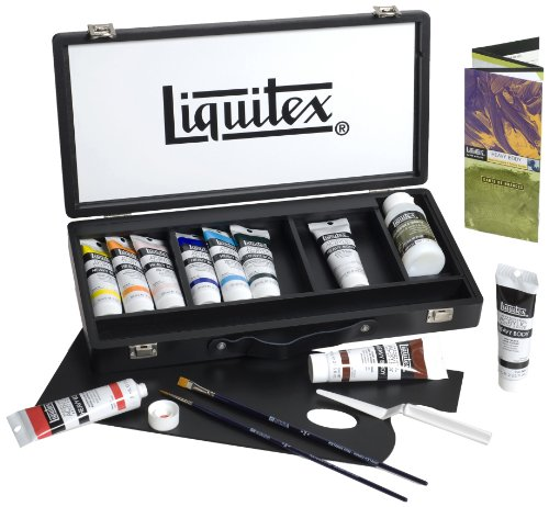 Liquitex MID(G18,7,5) Coffret en bois 10 tubes 59 ml Noir