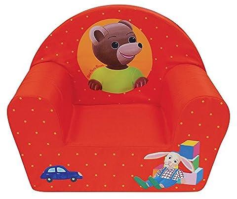 Fun House 712583 Petit Ours Fauteuil Club pour Enfant Mousse/Housse Polyester Rouge 52 x 33 x 42 cm