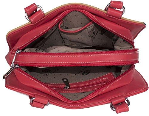 Big Handbag Shop, Borsa a mano donna Taglia unica Pink