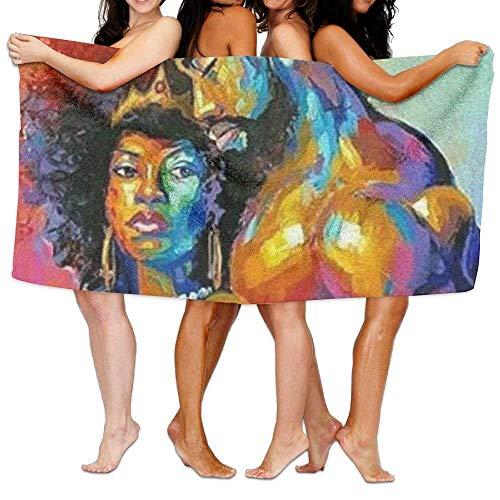 sd4r5y3hg Bath Towel Microfiber BAGT, Microfiber Travel Sport Beach Bath Towels African American Lovers Couple Painting Soft Shower Towel Bath Swimming Travel Ski 31x51 inches