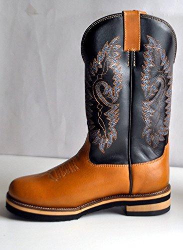HKM Texas Western Western Bottes-Softy Cow de london braun