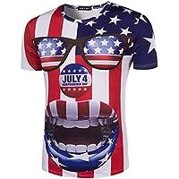 Imprimir Camiseta de manga corta la Boca Grande Payaso impresión tridimensional Short-Sleeved T-shirt,XXL