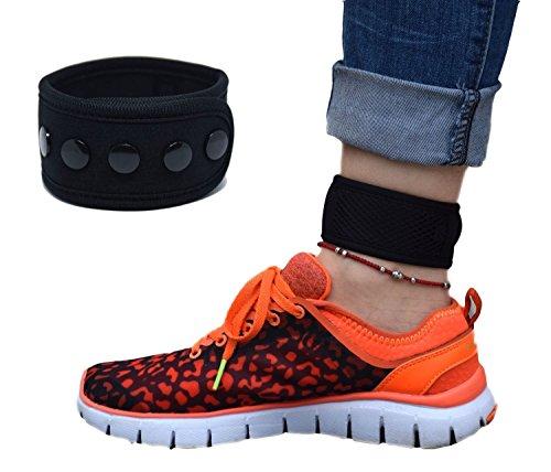Pulsera ajustable para mujer con brazo y botón de tobillo con bolsa de malla para Fitbit One, FitBit Flex 2, FitBit Alta, Alta HR, Fitbit Zip, Fitbit Charge 2, Garmin Vivofit, 2/3/4/JR, 13inch