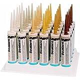 Unika ColorSealant CS4226 BLANC DOUX / SOFT WHITE Scellant Mastic de rebouchage Acryl imperméable Enduit de remplissage Reboucheur Pâte à bois Cartouche de 310ml 14 couleurs au choix