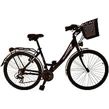 """Bicicleta de paseo Rocasanto BELLA AL, ruedas 26"""",tamaño cuadro aluminio 43,color negra"""