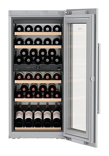 Liebherr ewtdf 2353eingebaut Kombi-Wein-48bottle (S) A-Weinkühler (eingebaut, grau, grau, 6Regalböden, 1Tür (S), silber)