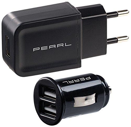 reVolt USB Storm Adapter: USB-Ladeset mit 230-V-Netzteil (2 A) & 2-Port-Kfz-Ladegerät (2,1 A) (USB Charger) 240 Usb