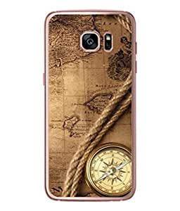 Snapdilla Designer Back Case Cover for Samsung Galaxy S7 :: Samsung Galaxy S7 Duos :: Samsung Galaxy S7 G930F G930 G930Fd (North Geography Ancient Travel Rope Tool)
