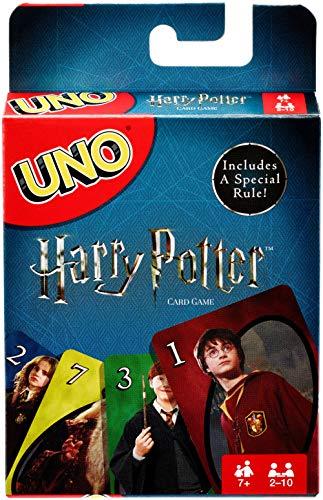 Mattel Games UNO Harry Potter Juego de Eliminar Cartas - Juegos de Cartas (7 año(s), Juego de Eliminar Cartas, Harry Potter, Niños y Adultos, Niño/niña, 112 Pieza(s))
