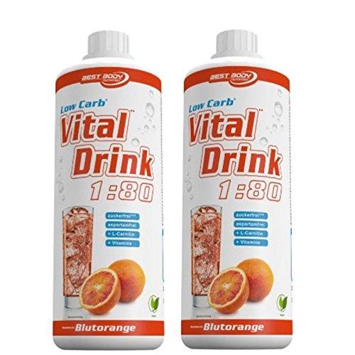Best Body Nutrition Low Carb Vital Drink 2 x 1 Liter 2er Pack Blutorange