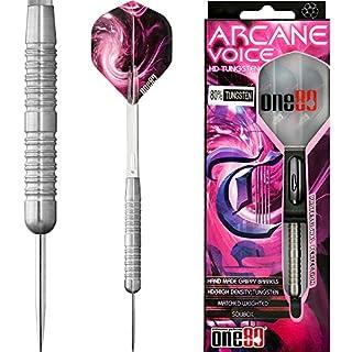 ONE80Soft-Dartpfeile Arcane Voice Dart–Edelstahl Spitze–griffige–Handarbeit–25g–mit Darts Ecke gebogen Kugelschreiber