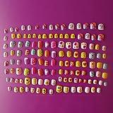 Künstliche Fingernägel für Kinder, 28 Größen, 128 Stück