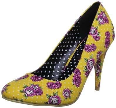 Iron Fist Women's Scary Prairie Heel Yellow Platforms Heels IFLPLH11074S13-08 8 UK