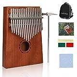 Kalimba 17 Clés Thumb Piano Africain Percussions avec Recueil de Chants Sac de Rangement Marteau Tuner pour Mbira Sanza Instrument de Musique Cadeau...