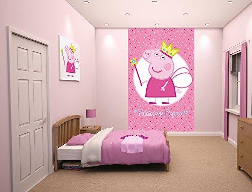 Walltastic Póster de tela, multicolor, diseño de princesa de Peppa Pig, 8 x 152,4 cm