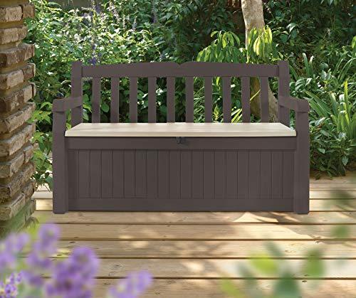 Koll Living Garden Gartenbank mit 265 Liter Stauraum - bis zu 350 kg belastbar - Limitierte Auflage in der Farbe braun/beige -