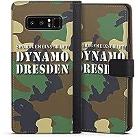 Samsung Galaxy Note 8 Tasche Hülle Flip Case Sg Dynamo Dresden Camouflage Tarnmuster
