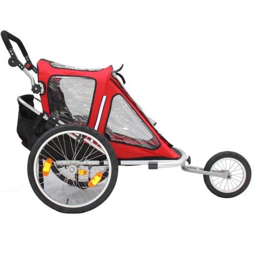 Kinderanhänger Red Loon RB10001 ALU-Light + Jogger für 2 Kinder - 4