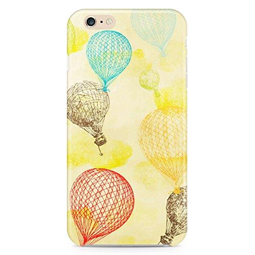 Queen Of Cases Coque pour Apple iPhone 6/6S-Vintage Ballons-Air chaud de qualité supérieure en plastique jaune