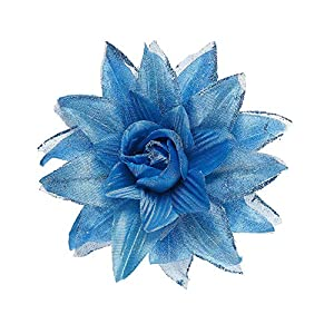 WIDMANN?Pasador Pelo Flor con purpurina Womens, Azul, talla única, vd-wdm04127