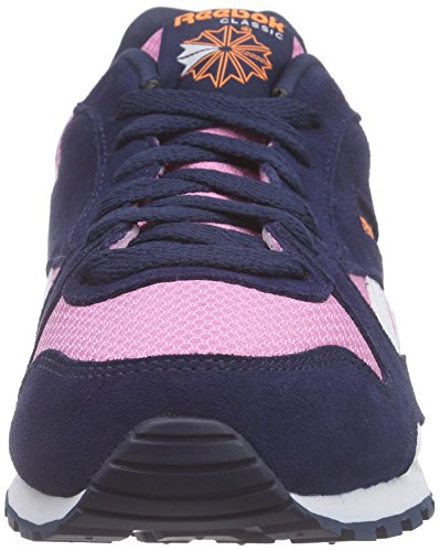 Reebok Gl 3000, Chaussures de Course Fille Rose - Pink (Icono Pink/Navy/Electric Peach/Reflectve Slvr)