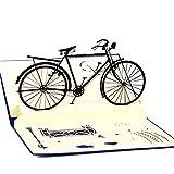 Kofun Vatertag Geschenke, Muttertag Handmade 3D Pop Up Fahrrad Geburtstag Frohe Weihnachten Ostern Geburtstag Halloween Gruß Muttertag Geschenkkarte 9.9x14.9 cm