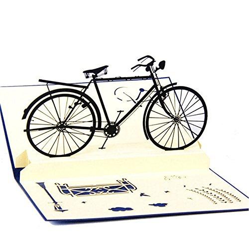kofun-Grußkarten handgefertigt 3D Pop up Grußkarte Fahrrad Geburtstag Frohe Weihnachten Ostern Geburtstag Halloween Gruß Karte 9,9* - Machen Zu Halloween Pop-up-karten