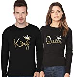 #10: ADYK Cotton full sleeved Couple T-Shirts King and Queen (Pack of 2)