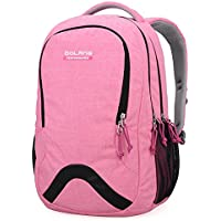Alla moda leggero impermeabile in nylon zaino scuola bag super cute Stripe School College laptop bag for Teens Girls Boys, Pink - Stripe Package