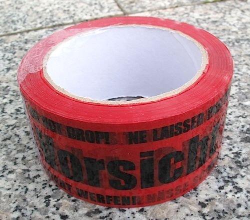 Paketband Packband Warnband Vorsicht Glas 66mx50mm