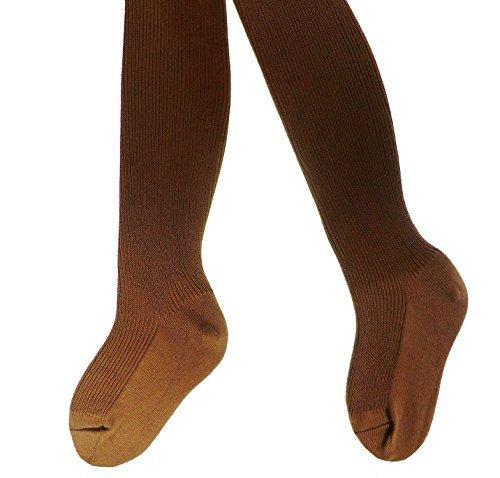 Kinderstrumpfhose 100% Baumwolle uni viele Farben, Farben alle:mittelbraun;Größe:134/146 (Viel Strumpfhosen)