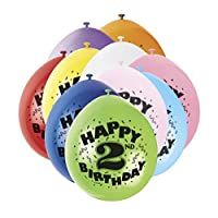 "9"" Latex Assorted Happy Birthday Balloons, Pack of 10"