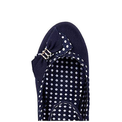 Ruby Shoo Damen Pumps Cordelia Polka Dot Schleifen Schuhe Blau Geschlossen 37 - 2
