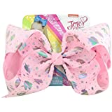 JOJO Siwa Boutique 8 inch Sparkly Unicorn Pink Large Signature Hair Bow Hair Clip - Super Girly and Lovely Children Accessori