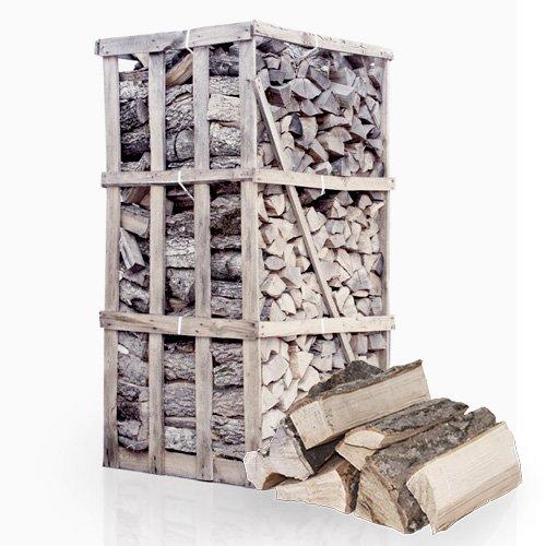 PALIGO Brennholz Kaminholz Feuerholz Grillholz Ofenholz Smokerholz Scheitholz Eschen Holz Trocken Ofenfertig Esche 25cm 1,8RM = 2,5SRM / 1 Palette HEIZFUXX®
