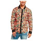 Halloween Herren Freizeit Hemd,FORH Handsome Mode Bunte Drucken Blumen Bluse slim fit Taste hemden Formell business hemden (XL, Mehrfarben)