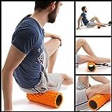Fit Nation Faszienrolle – Foam Roller Set zur Selbstmassage mit Übungsbuch – Sport Massagerolle Für Anfänger, Profis, Damen & Herren – Orange - 6